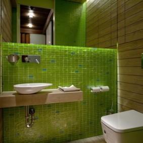 Мелкая плитка зеленого цвета