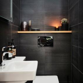 Темно-серая плитка прямоугольной формы