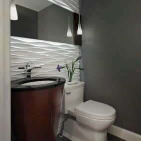 3D панели в туалете городской квартиры