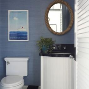 Интерьер туалетной комнаты в ретро-стиле
