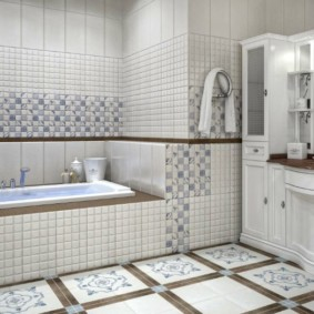Мебель из дерева в интерьере классической ванной