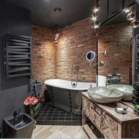 Интерьер ванной в стиле лофта