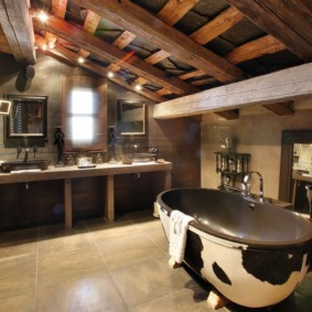 Ванная комната в летнем домике