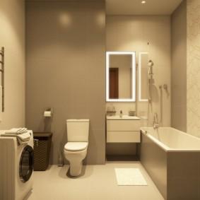 Дизайн ванной комнаты с крашенными стенами