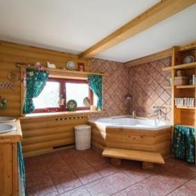 Современная ванная комната в жилом доме