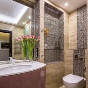 Дизайн санузла с мозаичным декором