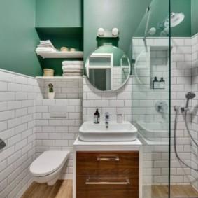 Плитка кабанчик в интерьере ванной