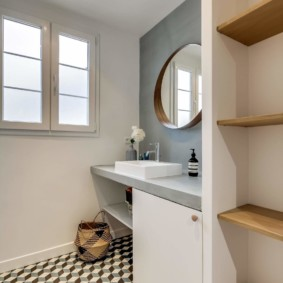 3D плитка на полу ванной комнаты