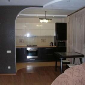 Фото реальной хрущевки после объединения кухни с гостиной