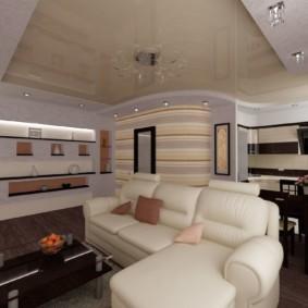 Угловой диван с обивкой из эко кожи