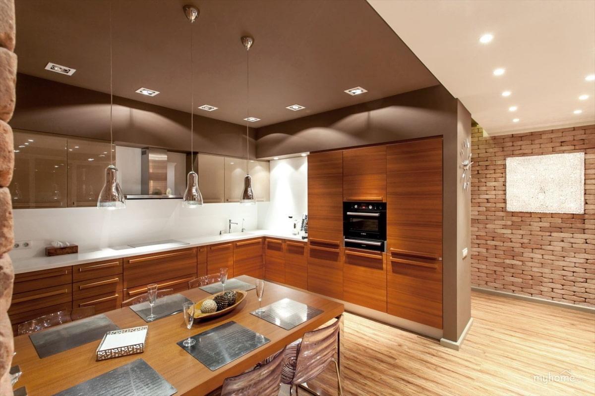 супругой дизайн стен и потолков на кухне фото зависимости того