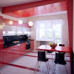 Красный цвет в дизайне кухонного пространства