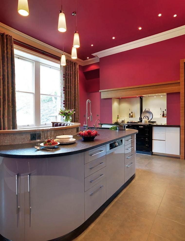 картинки символов цвета натяжного потолка фото кухня это сочетание