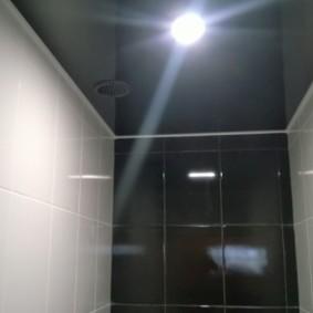 Черное полотно натяжного потолка