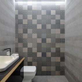 Интерьер современного туалета в стиле минимализма
