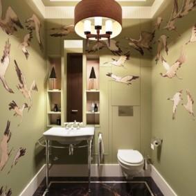 Наливной пол в туалете частного дома