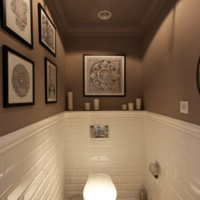 Плитка кабанчик в интерьере туалета