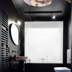 Дизайн туалета в черном цвете