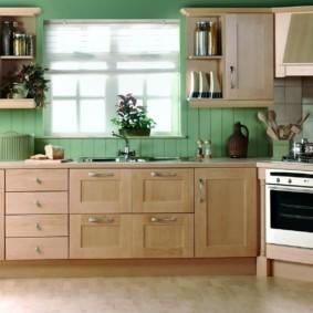 Кухонный гарнитур с рамочными фасадами