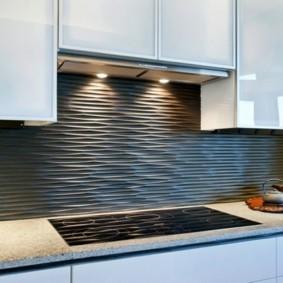 3D-панели на фартуке кухни