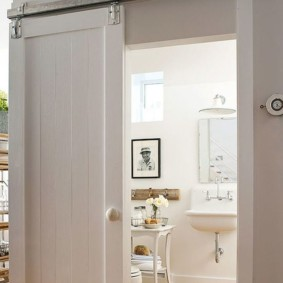 Крашенное полотно раздвижной двери из сосны