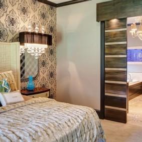 Современная спальня с раздвижными дверями