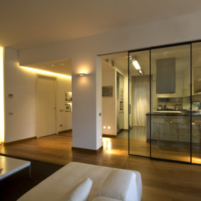 Декоративная подсветка в интерьере гостиной