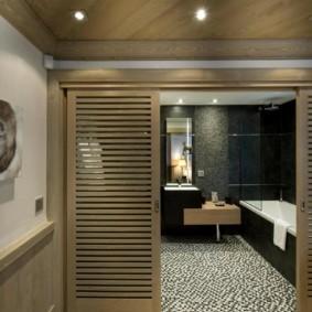 Решетчатые полотна раздвижных дверей