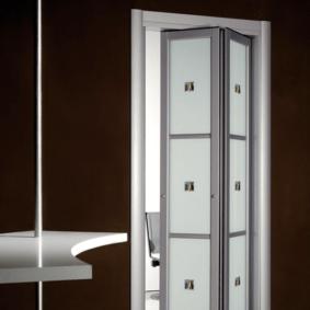 Дверь-гармошка на алюминиевом каркасе