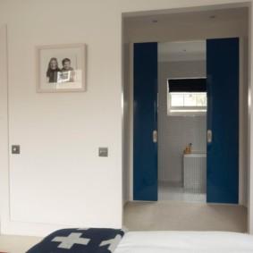 Пластиковые двери синего цвета