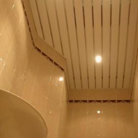 Реечный потолок сложной формы