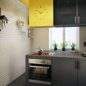 Акценты желтого цвета в интерьере кухни