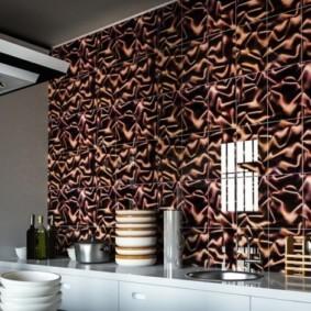 Декор стены кухни красивыми панелями