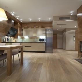Ламинированные панели в интерьере кухни