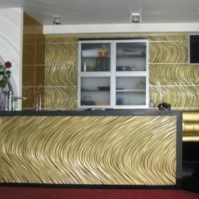 Дизайнерские панели в интерьере кухни