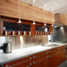 Подсветка кухонного фартука светодиодными лампами