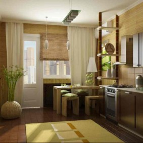 Дизайн кухни с балконом в городской квартире
