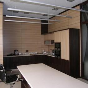 Подвесные светильники в современной кухне