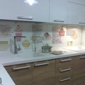 Декор кухонного фартука своими руками