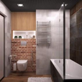 Дизайн туалета в индустриальном стиле
