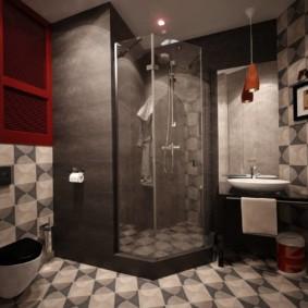 Дизайн совмещенной ванной комнаты в стиле лофт