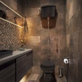 Интерьер туалета в стиле лофт