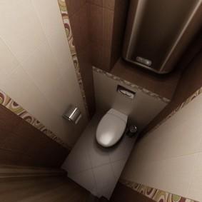 Маленький туалет прямоугольной формы