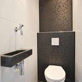 Керамическая мозаика в интерьере туалета