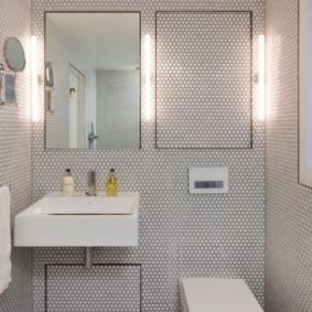 Мозаичная плитка в форме сот
