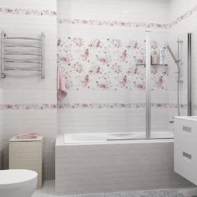 Современная ванная комната в стиле шебби шик