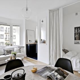 спальня гостиная 17 кв м декор