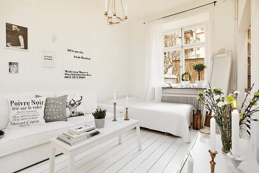 спальня гостиная 17 кв м декор идеи