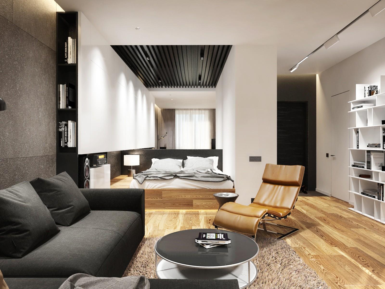 спальня гостиная 17 кв м дизайн