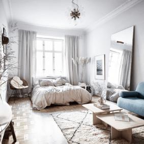 спальня гостиная 17 кв м фото дизайна